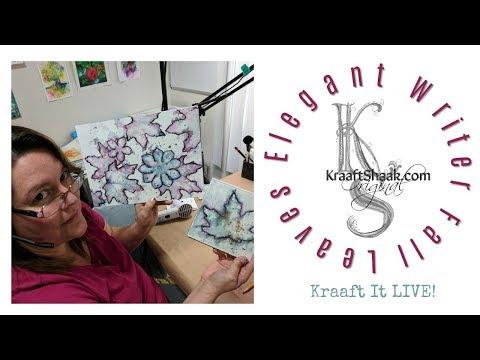Elegant Writer, Fall Leaves - Kraaft It LIVE!