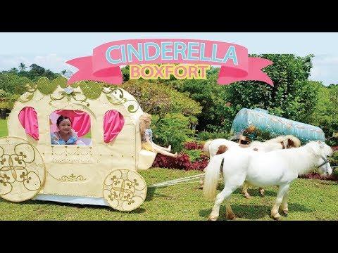 Life-Size Princess Carriage ! Cinderella boxfort !