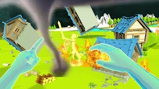 DESTROYING ENTIRE CIVILIZATIONS AS A VR GOD - Deisim VR HTC Vive Gameplay