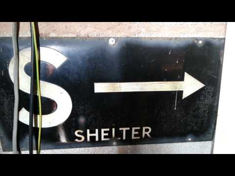 Ww2 air raid shelter sign