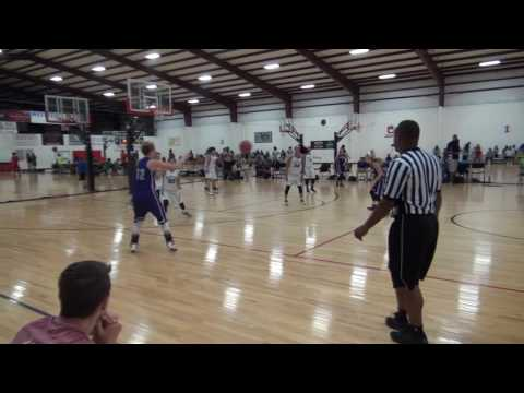 Julia Nichols, full basketball game, #12 in purple, class of 2017