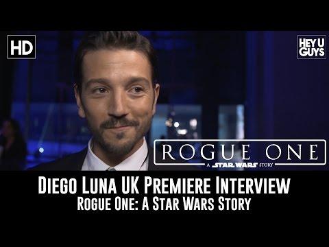 Diego Luna UK Premiere Interview - Rogue One: A Star Wars Story
