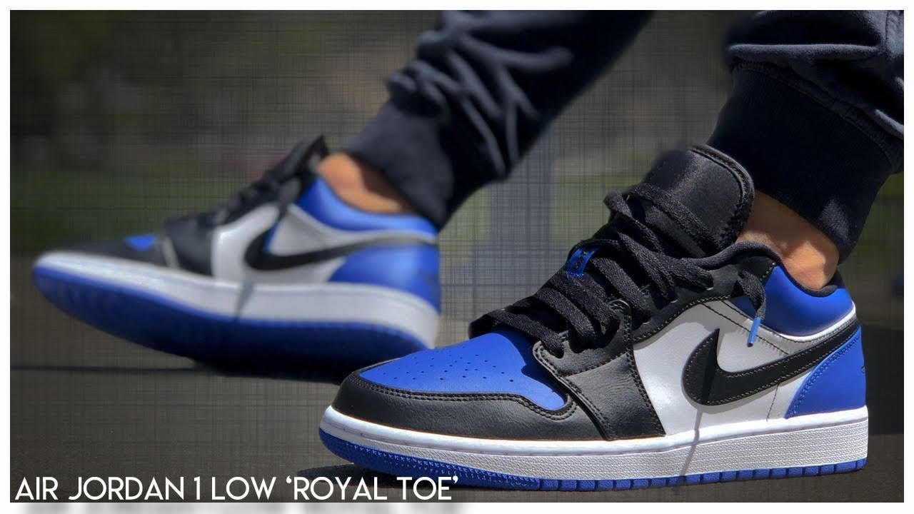 Air Jordan 1 Low Royal Toe Detailed Look Youtube