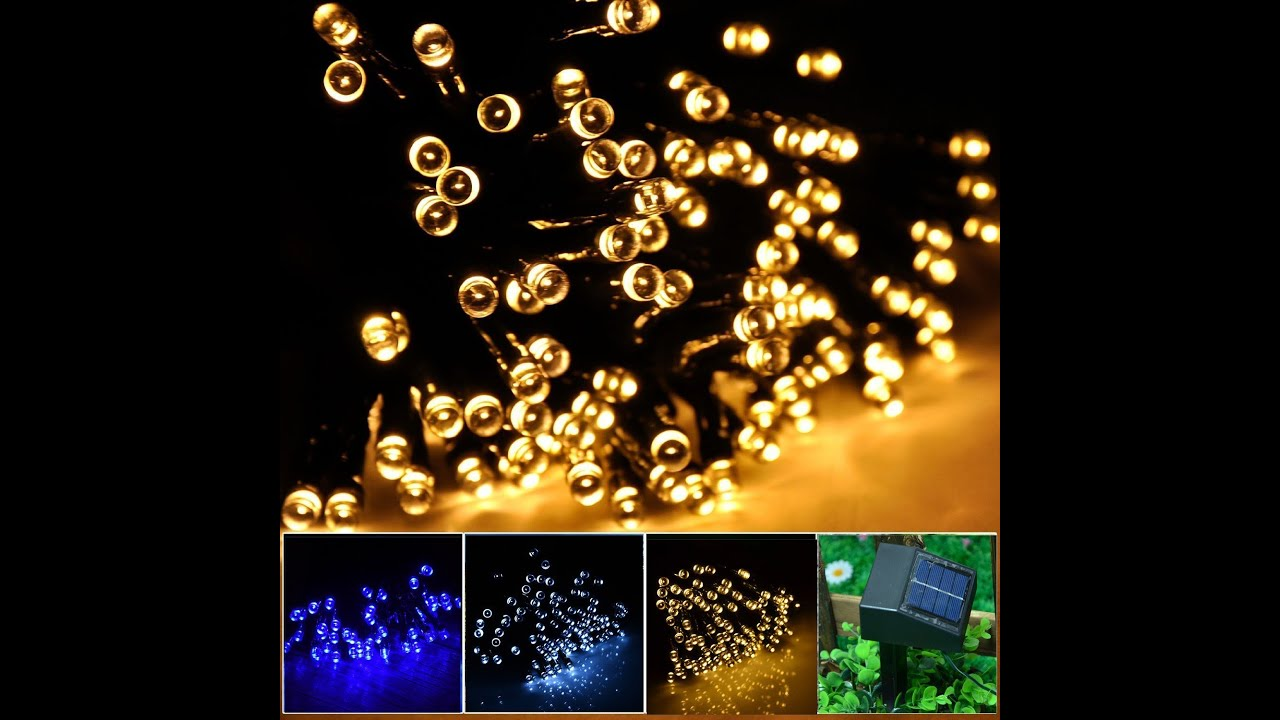 Review inst solar powered led string light ambiance lighting 55ft review inst solar powered led string light ambiance lighting 55ft 17m 100 led youtube aloadofball Image collections