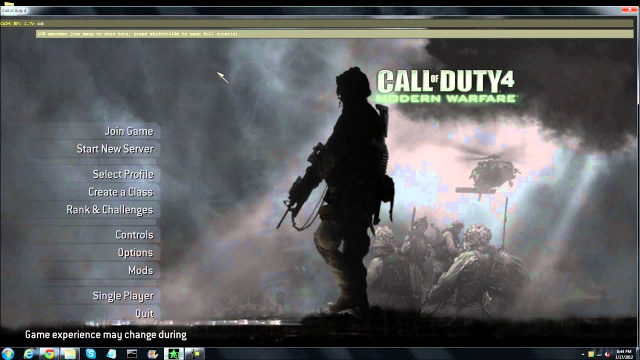 How to Join a Call Duty 4 Server When you already know the IP Address