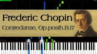 Frederic Chopin - Contredanse, Op.posth.B.17 | Piano Tutorial