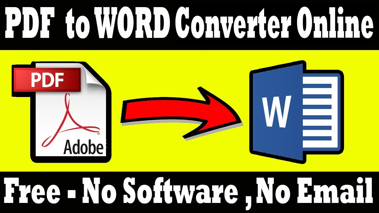 Online Pdf To Word Convert And