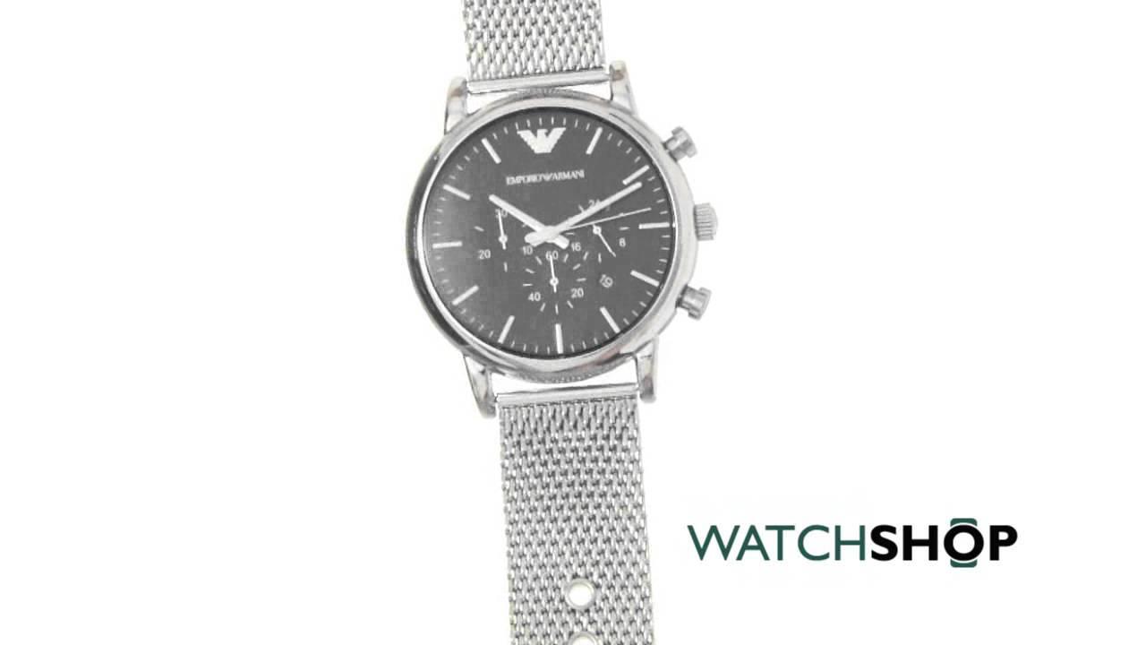 dbea1012568 Emporio Armani Men s Chronograph Watch (AR1808) - YouTube