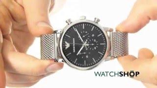 emporio armani men s chronograph watch ar1808