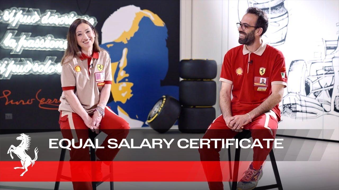 Anna Maria and Marco - Ferrari Equal Salary Certificate