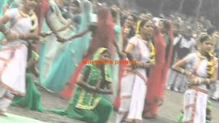 school girls rain dance indore