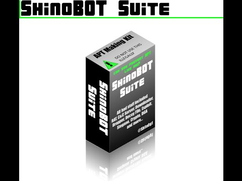 Hack like a pro using ShinoBOT Suite Part 1/2