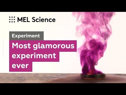 Glamorous Purple Smoke From Iodine And Aluminum (