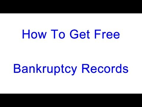 Copy of Bankruptcy Records | How to Get FREE Copies on PACER