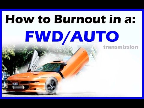 How To Do A Burnout - Automatic Front Wheel Drive - Never Done