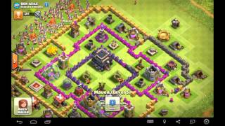let,s play clash of clans 1 Dorf Besuche top 7