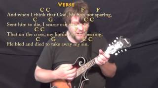 How Great Thou Art (Hymn) Mandolin Cover Lesson in C with Chords/Lyrics