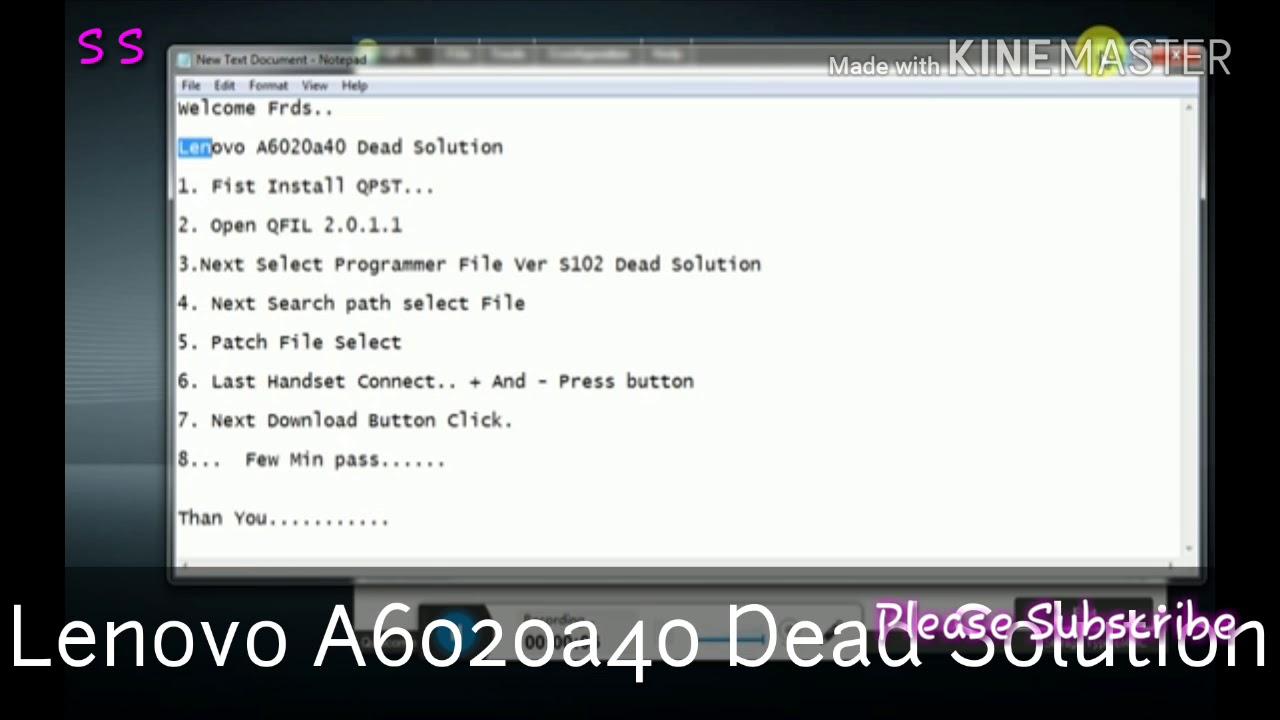 Lenovo A6020a40 Dead solution/lenovo A6020a40 flash after dead