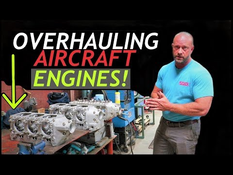 OVERHAULING Aircraft Engines - How Its Done - Airworx