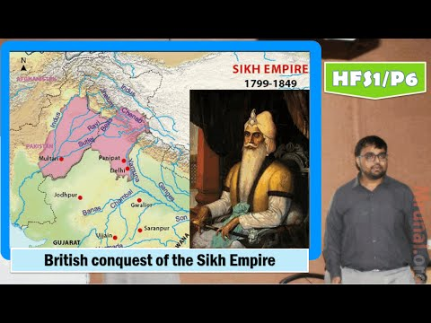 HFS1/P6: British conquest of the Sikh Empire, Ranjit Singh, Anglo-Sikh Wars-outcomes