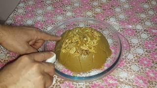 حلاوة الراشي او الطحينية بمكونات بسيطة والطعم روعة
