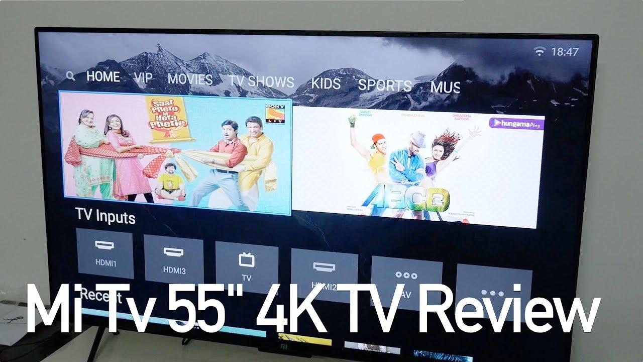 Xiaomi Mi Tv 4 55 Hdr 4k Smart Tv Review Youtube