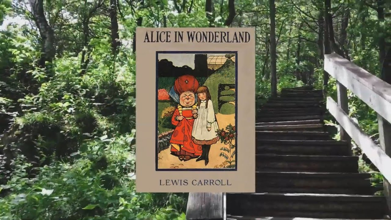 Reading Alice in Wonderland (Chapter One). Nature Walk Visuals.