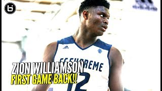 FULL Game! Zion Williamson Scores 31 Points In First Game Back In adidas Gauntlet!! thumbnail
