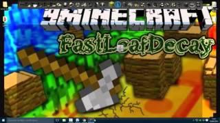 Como Instalar FastLeafDecay mod 1.9/1.8.9/ 1.7.10 minecraft Atualizado 2016  Original Pirata