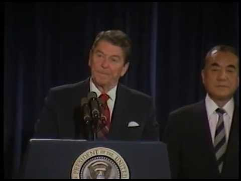 President Reagan's Remarks With Prime Minister Yasuhiro Nakasone of Japan on January, 2 1985