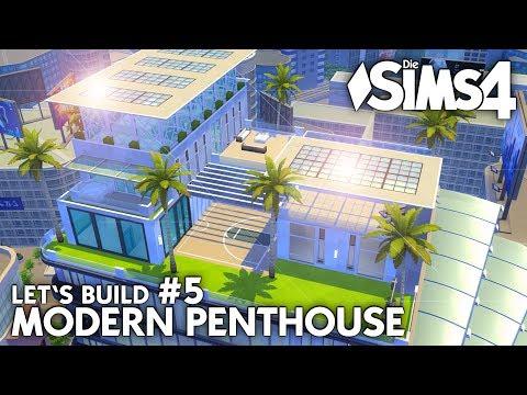 Luxus Wohnzimmer | Die Sims 4 Haus bauen | Modern Penthouse #5 (deutsch)