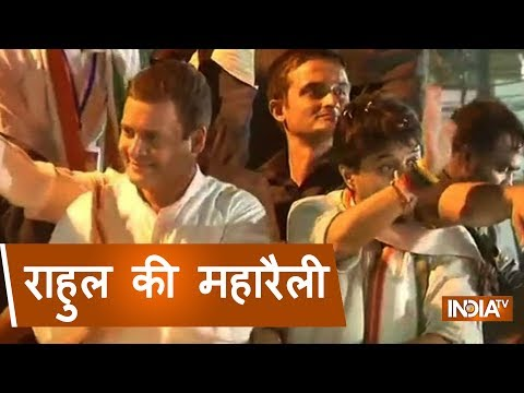 Rahul Gandhi holds a mega road show in Indore