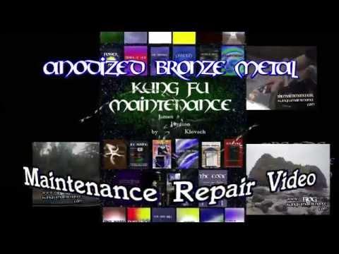 Anodized Bronze Metal Tub Or Shower Door Quick Clean Up Kung Fu Maintenance Repair Video