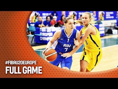 Sweden v Bosnia and Herzegovina - Full Game - CL 11-12 - FIBA U20 Women's European Championship 2016