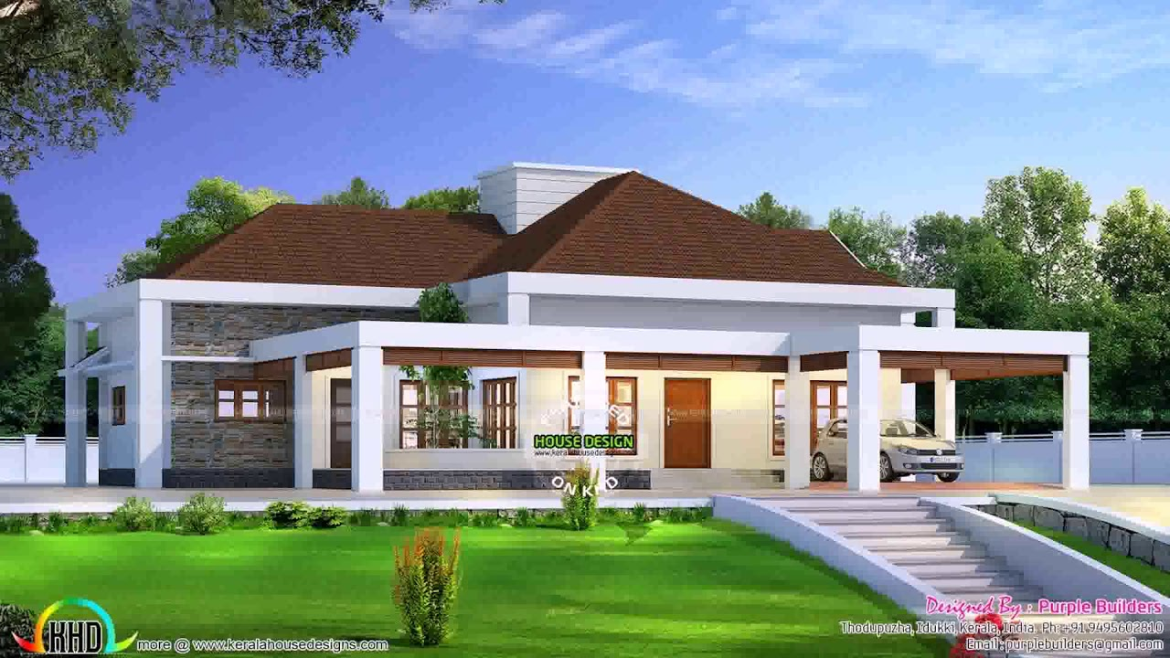 U shaped house plans single level youtube for U shaped house plans single level