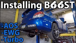 homepage tile video photo for Hawkeye STi Gets FP Blue Turbo, Catless Downpipe, EWG Fuel Pump, AOS & MORE at Six Star SPF