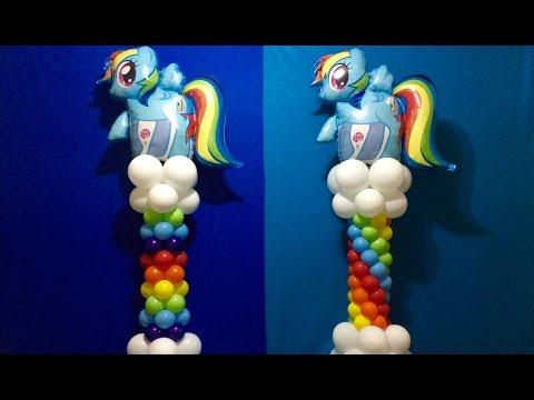 My Little Pony Balloon Column Tutorial! Rainbow Dash