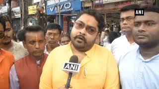 BJP workers protest against attack on Dilip Ghosh