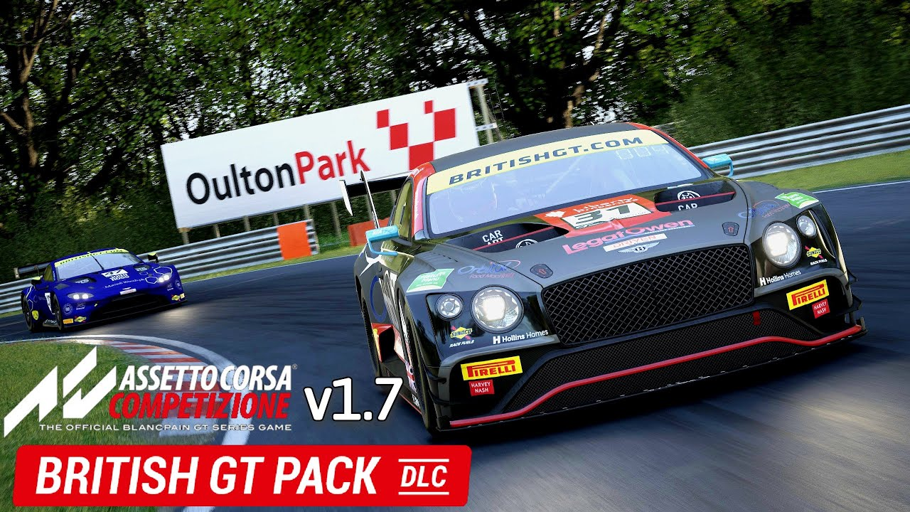 nEWBritish GT DLC and v1.7 Assetto Corsa Competizione