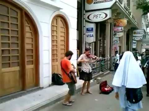 Foreign street performers in Sri Lanka
