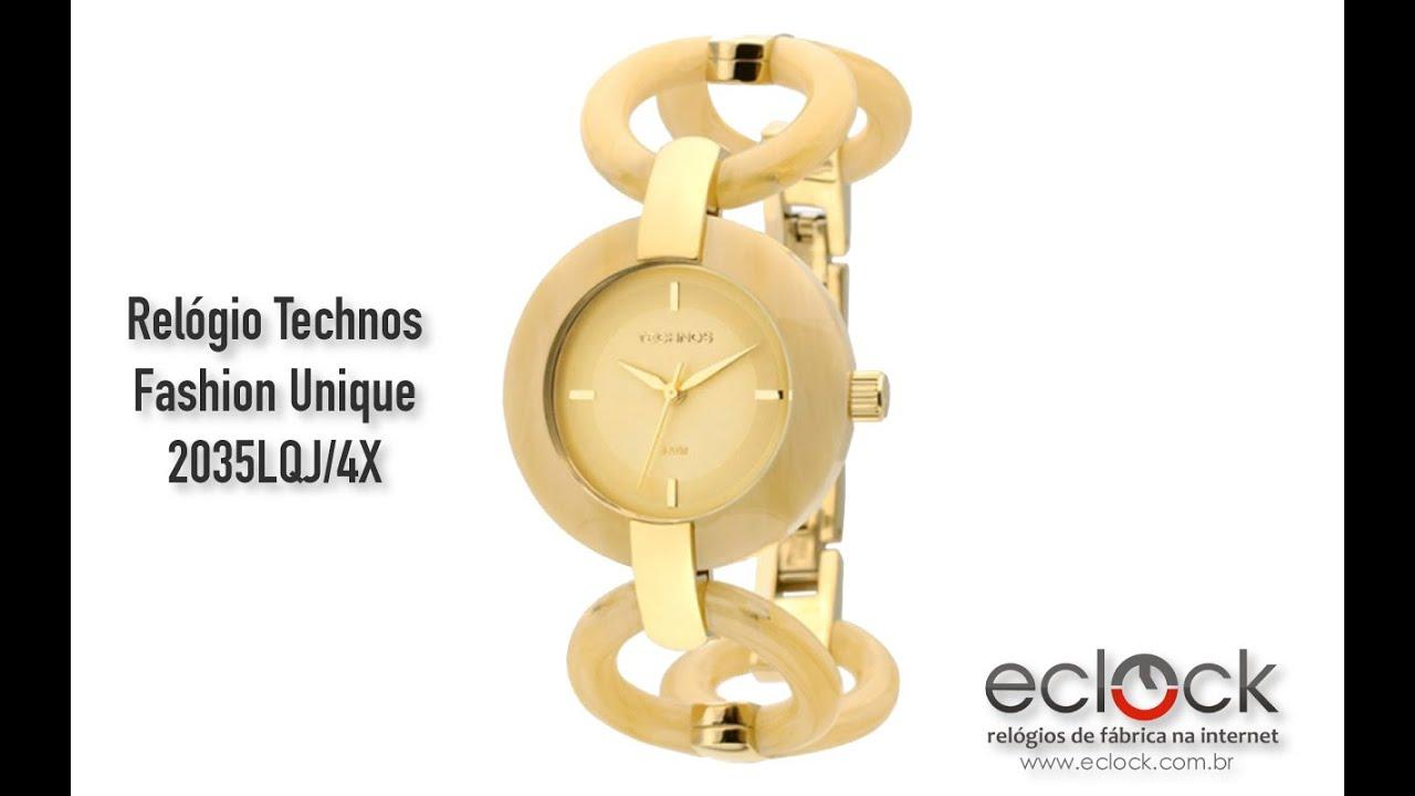 Relógio Technos Feminino Fashion Unique 2035LQJ 4X - Eclock - YouTube 4b20a4cea6