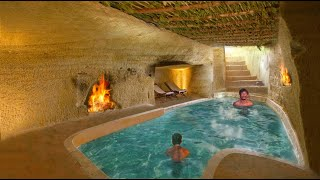 Unbelievable! 60 day Build Underground Swimming Pool In Underground House [ Full Video ]