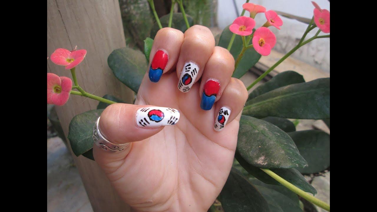 Uñas Bandera De Corea Del Sur
