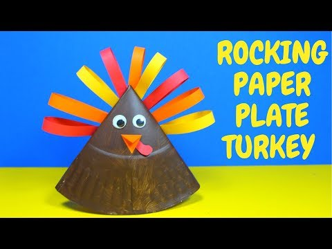 Rocking Paper Plate Turkey | Thanksgiving Craft for Kids