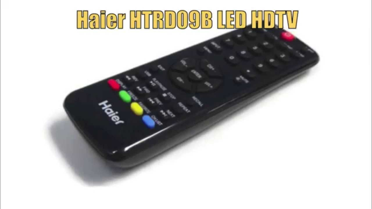 Haier HTRD09B TV Remote Control PN: 504Q4605101 - www ReplacementRemotes com