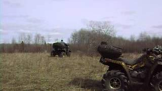 Kawasaki Brute Force Wheelie hillbilly style and attempts reverse wheelie