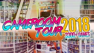ROOMTOUR 2018   3300+ Games   Gameroom Collection Sammlung  NES, SNES, PS4, Megadrive, Xbox, Switch