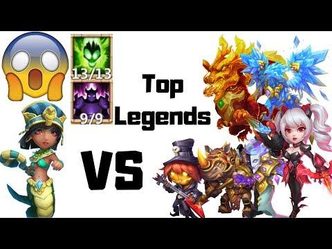 Serpent Queen | 13/13 | 9/9 Wicked Armor | Vs Top Legends | Castle Clash | Amazing Results