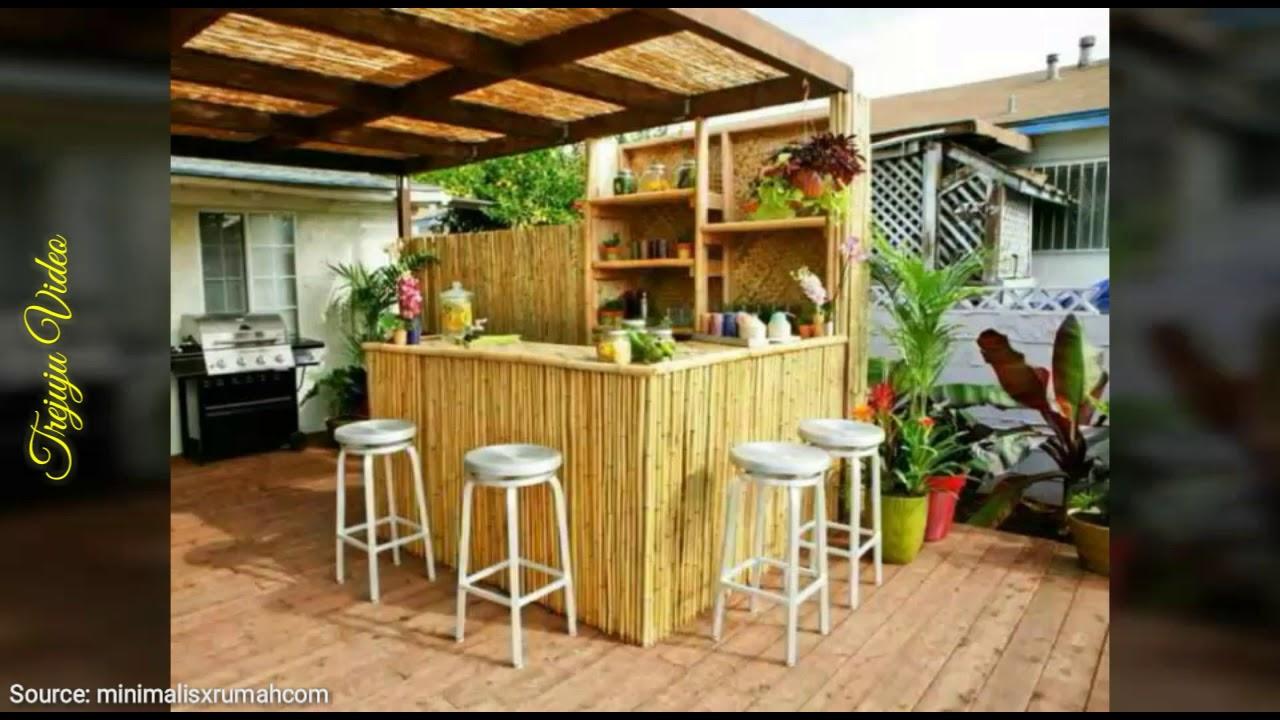 Dapur Terbuka Outdoor Di Belakang Rumah Menghadap Taman