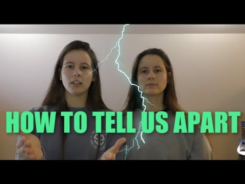 TWINS ASK SUBSCRIBERS HOW TO TELL THEM APART